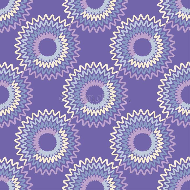 Fondo inconsútil con el modelo geométrico abstracto ilustración del vector