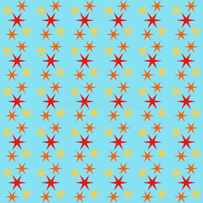 Fondo inconsútil con las estrellas, ejemplo colorido del modelo libre illustration