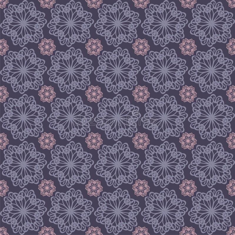 fondo inconsútil con las flores del cordón libre illustration