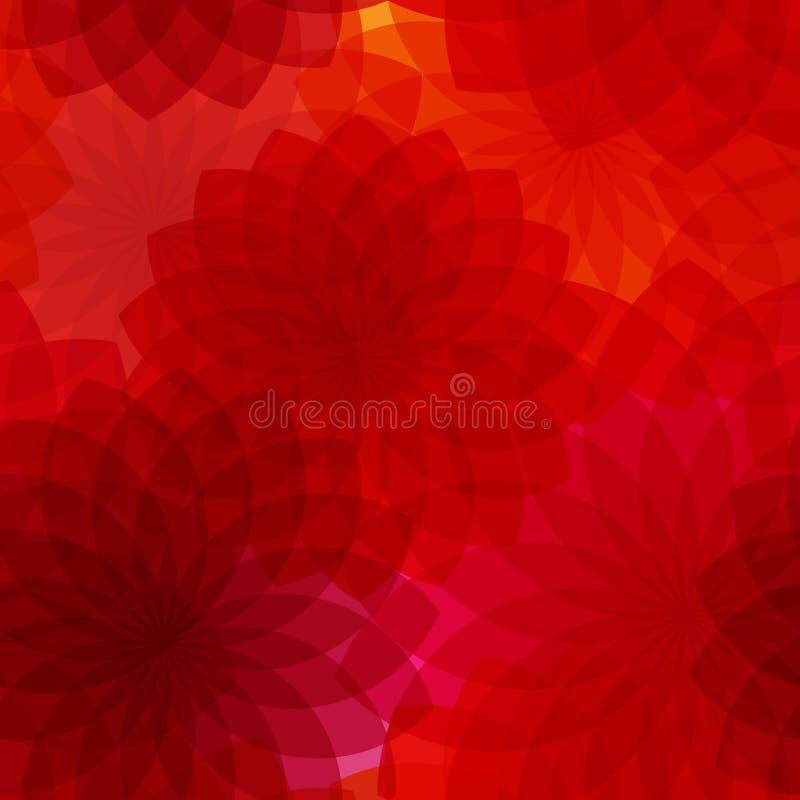 Fondo inconsútil con las flores rojas stock de ilustración
