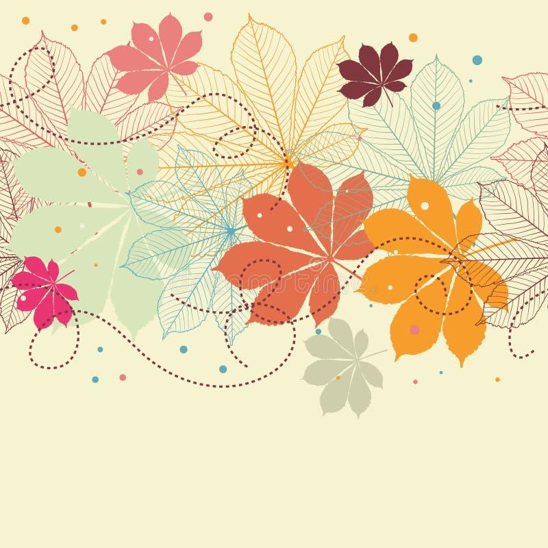 Fondo inconsútil con las hojas de otoño libre illustration