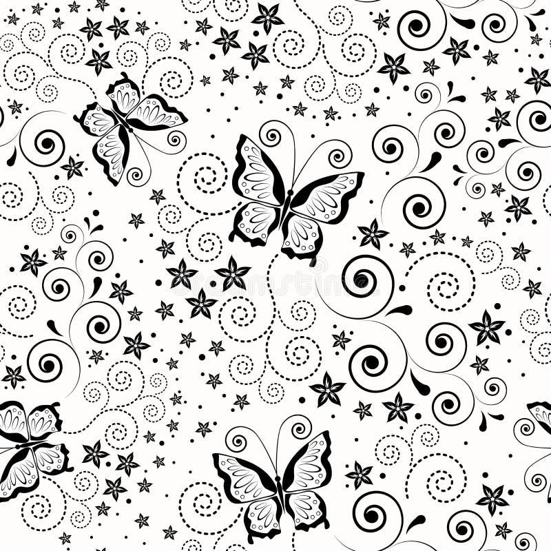 Fondo inconsútil con las mariposas. ilustración del vector