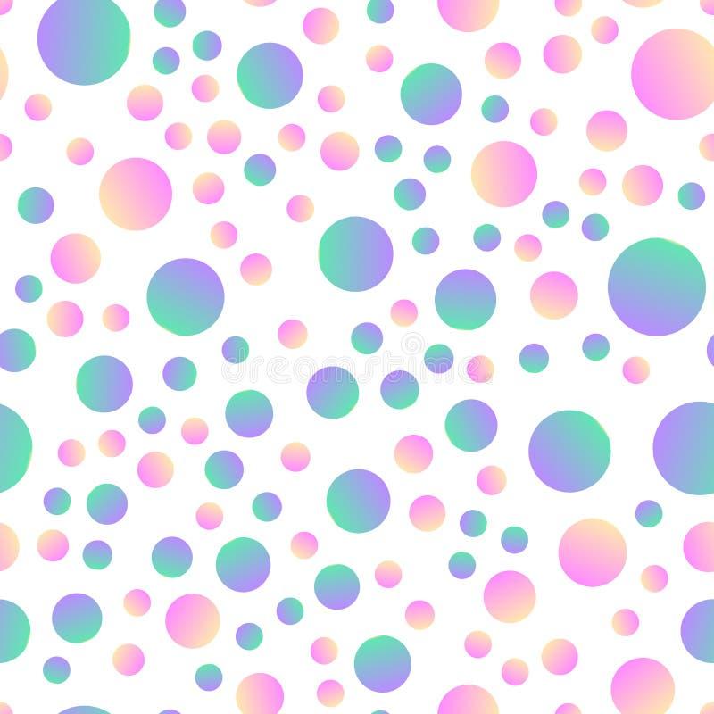 Fondo inconsútil con los círculos simples ilustración del vector