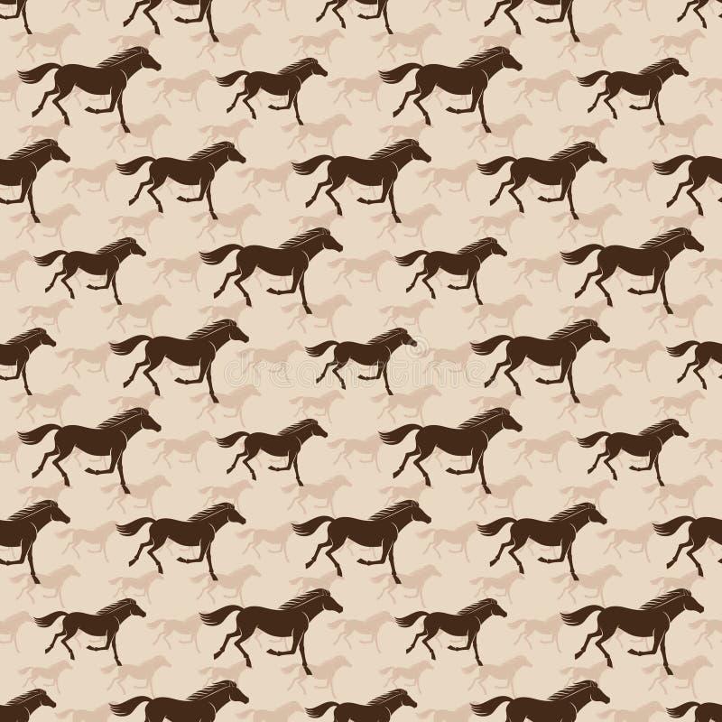Fondo inconsútil con los caballos corrientes libre illustration