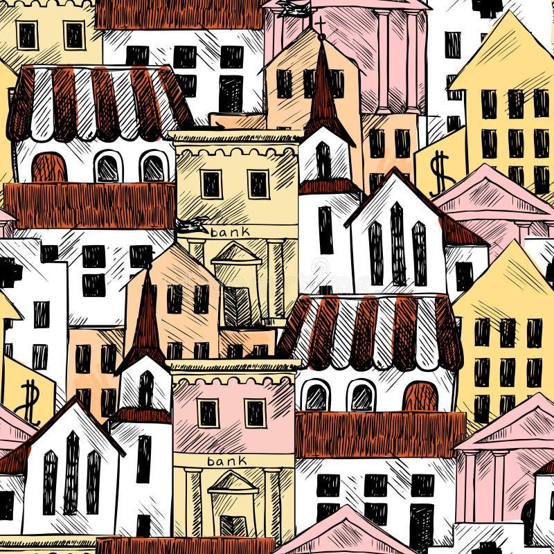 Download Fondo Inconsútil Con Los Edificios Del Gobierno Ilustración del Vector - Ilustración de casa, mano: 42436052