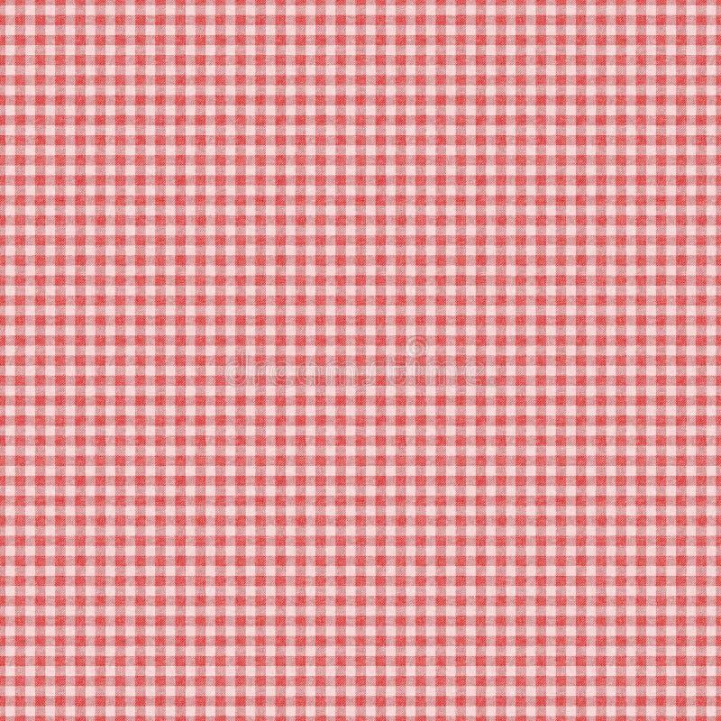 Fondo inconsútil controlado rojo de la tela escocesa de la guinga stock de ilustración