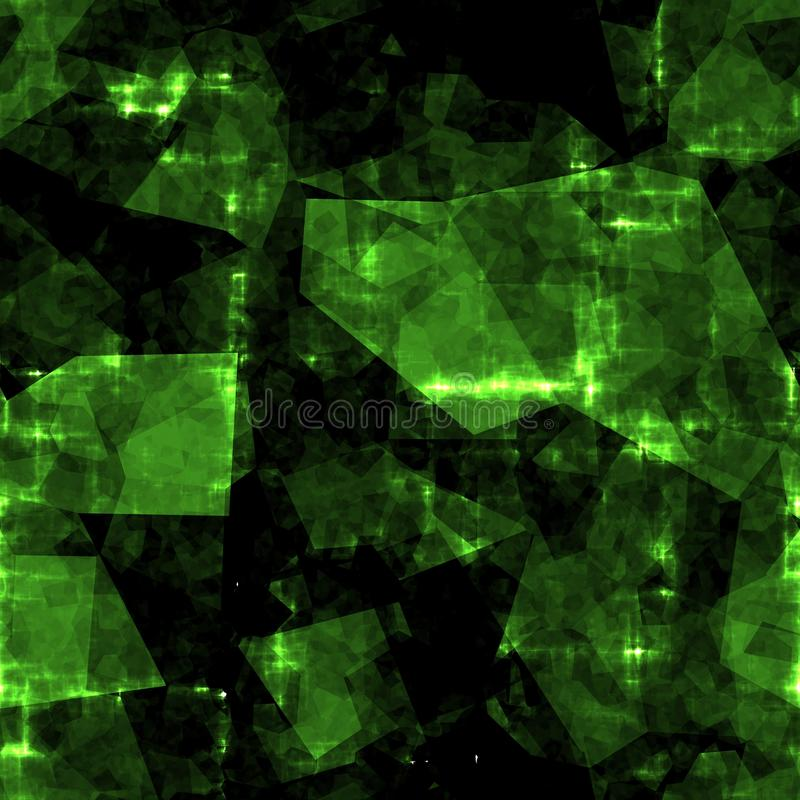 Fondo inconsútil cristalino verde abstracto stock de ilustración