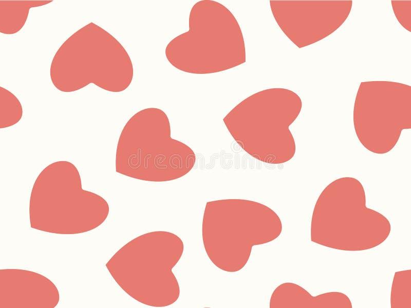 Fondo inconsútil de corazones en color en colores pastel libre illustration