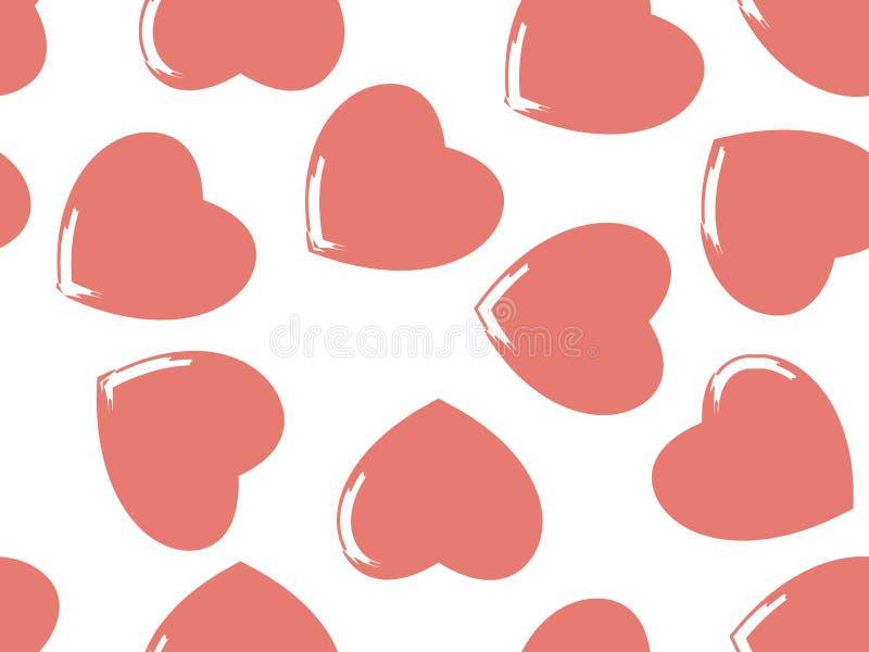 Fondo inconsútil de corazones en color en colores pastel ilustración del vector