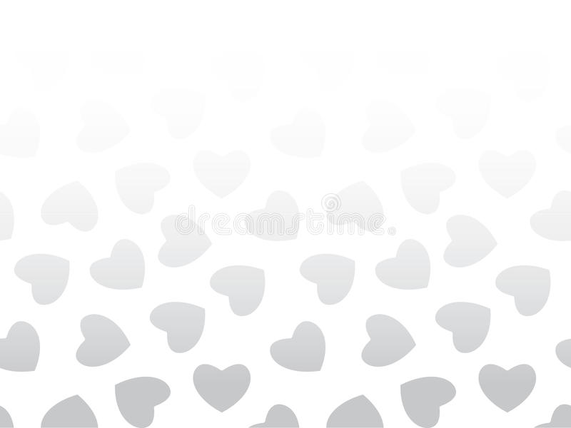 Fondo inconsútil de corazones negros en blanco libre illustration