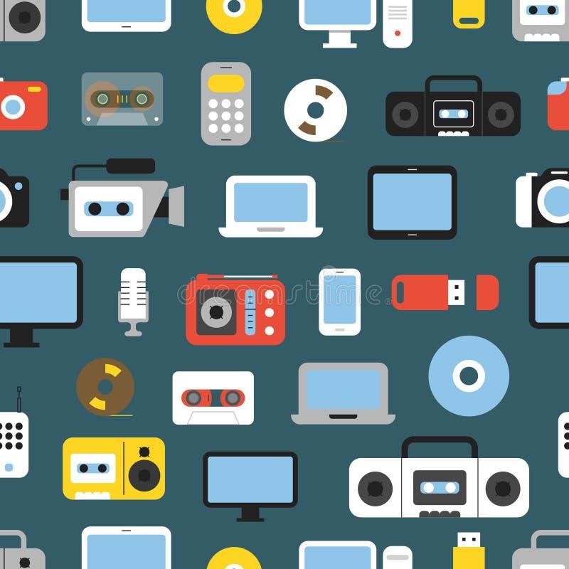 Fondo inconsútil de diverso medios color de los dispositivos ilustración del vector