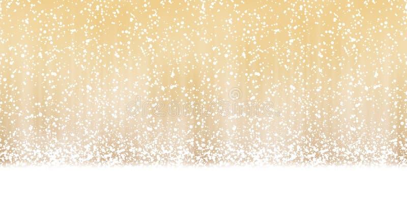 fondo inconsútil de la caída de la nieve ilustración del vector