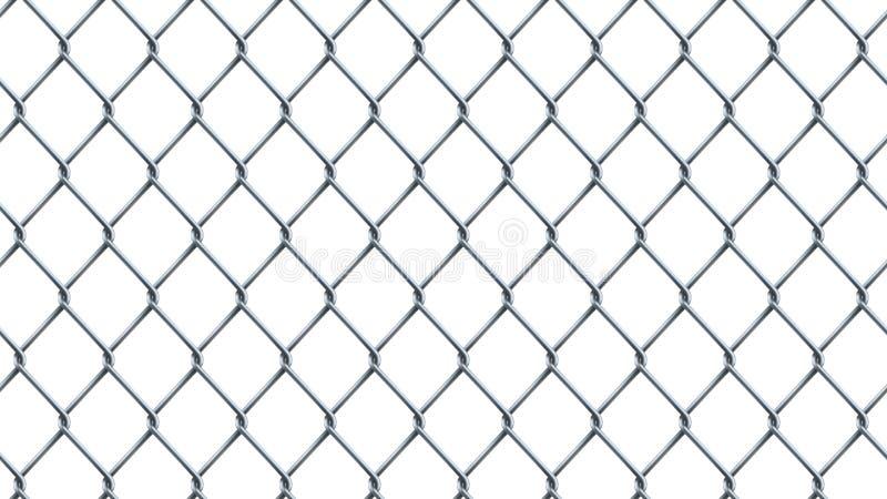 Fondo inconsútil de la cerca de la alambrada en blanco ilustración del vector