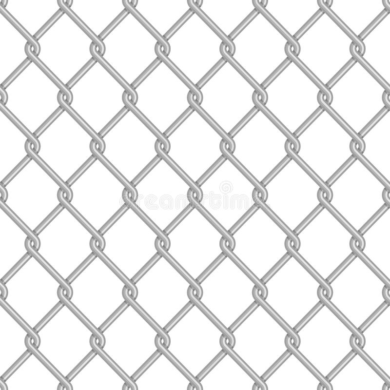Fondo inconsútil de la cerca de la alambrada libre illustration