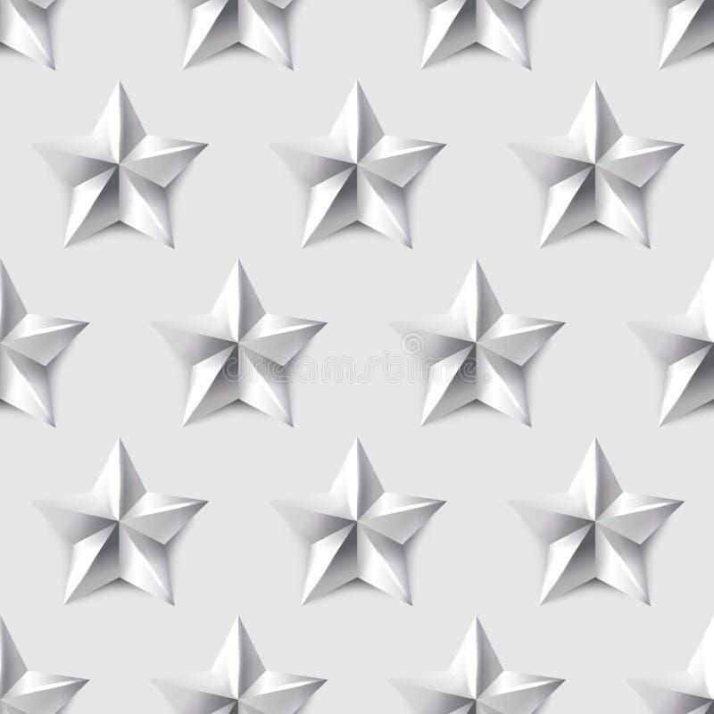 Fondo inconsútil de la estrella de plata imagenes de archivo