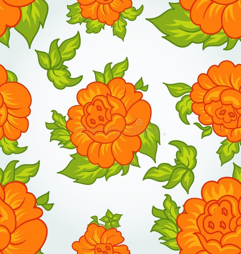 Fondo inconsútil de la flor linda libre illustration