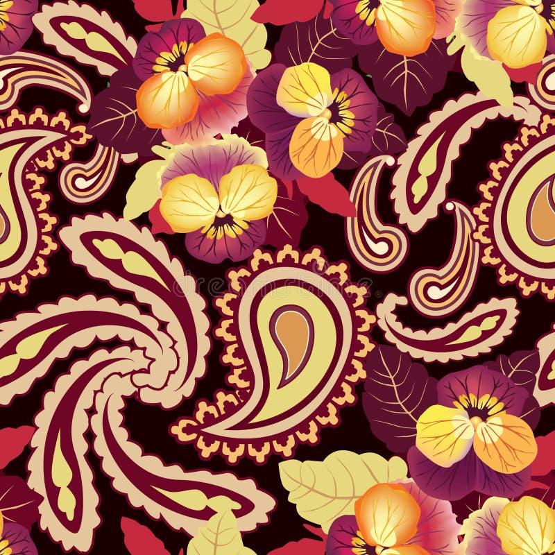 Fondo inconsútil de la flor. Textura abstracta del lirio de la flor del ornamento. libre illustration