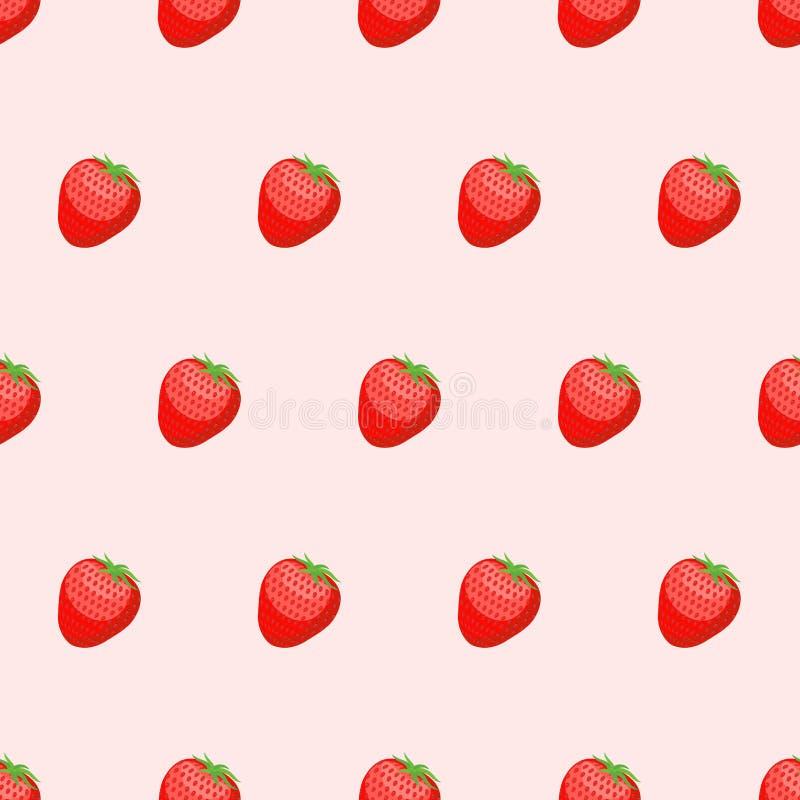 Fondo inconsútil de la fresa roja Bayas frescas, maduras p libre illustration