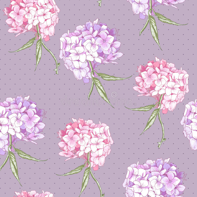 Fondo inconsútil de la hortensia rosada hermosa libre illustration