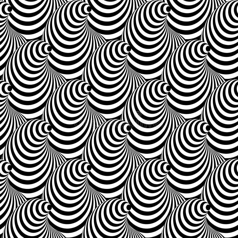 Fondo inconsútil de la ilusión del cono del diseño ilustración del vector