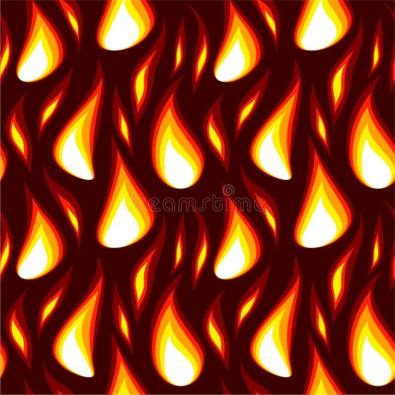 Fondo inconsútil de la llama roja libre illustration