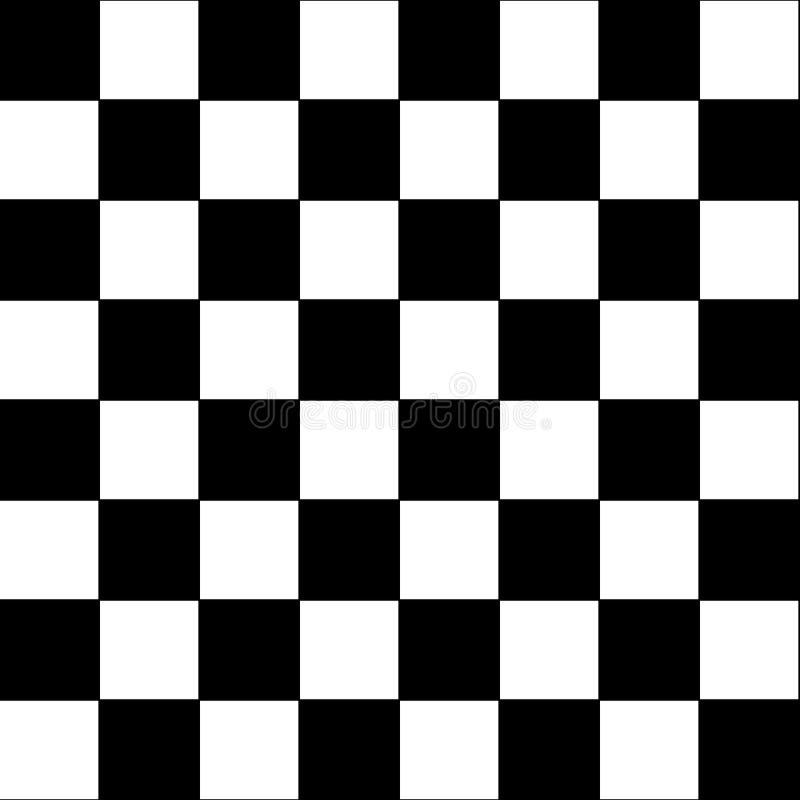 Fondo inconsútil de la raza, textura geométrica de ajedrez del tablero de la raza del extracto del fondo del papel pintado a cuad stock de ilustración