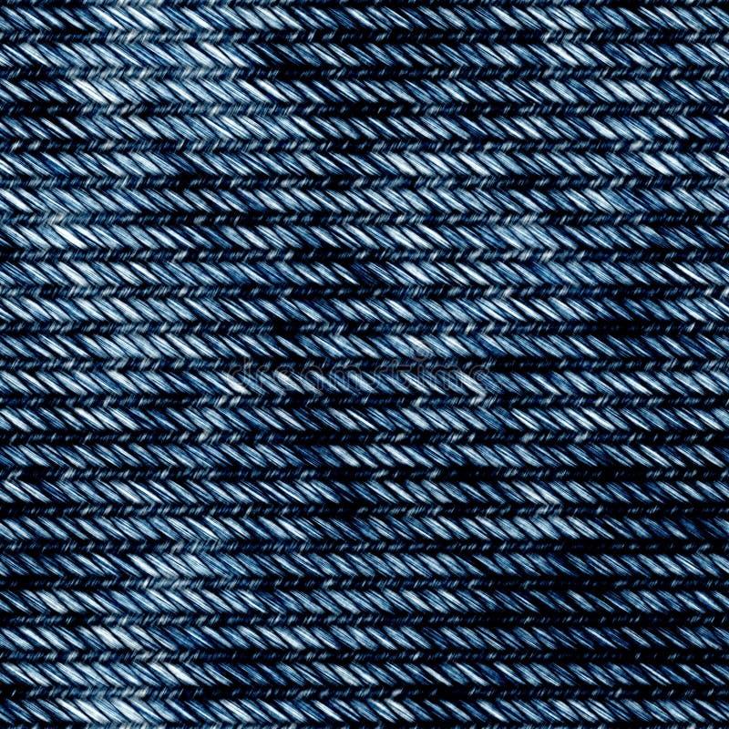 Fondo inconsútil de la tela de los vaqueros del dril de algodón stock de ilustración