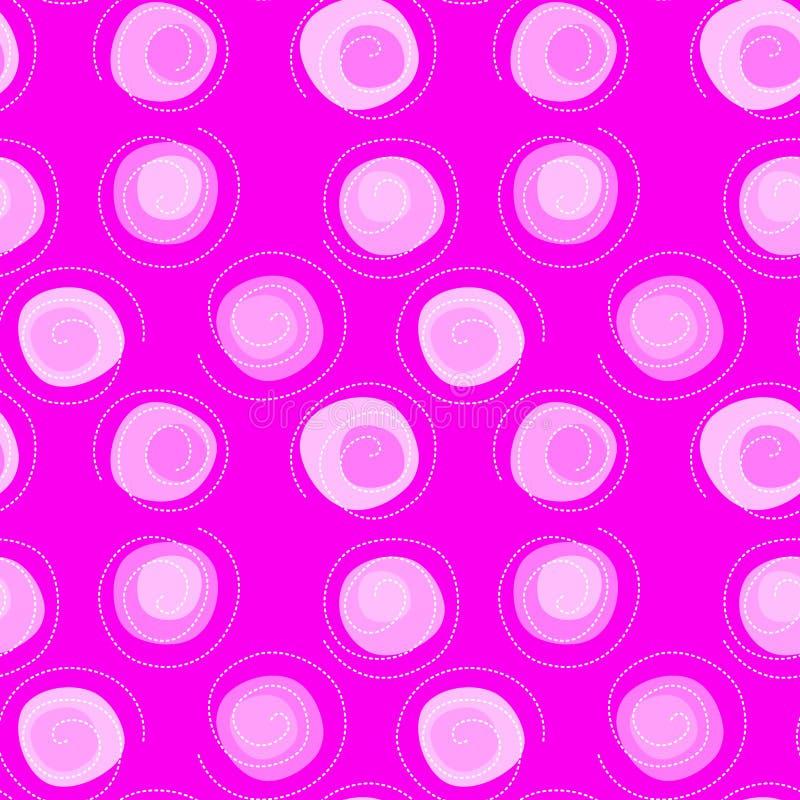 Fondo inconsútil de la textura de las bolas rosadas del confeti stock de ilustración
