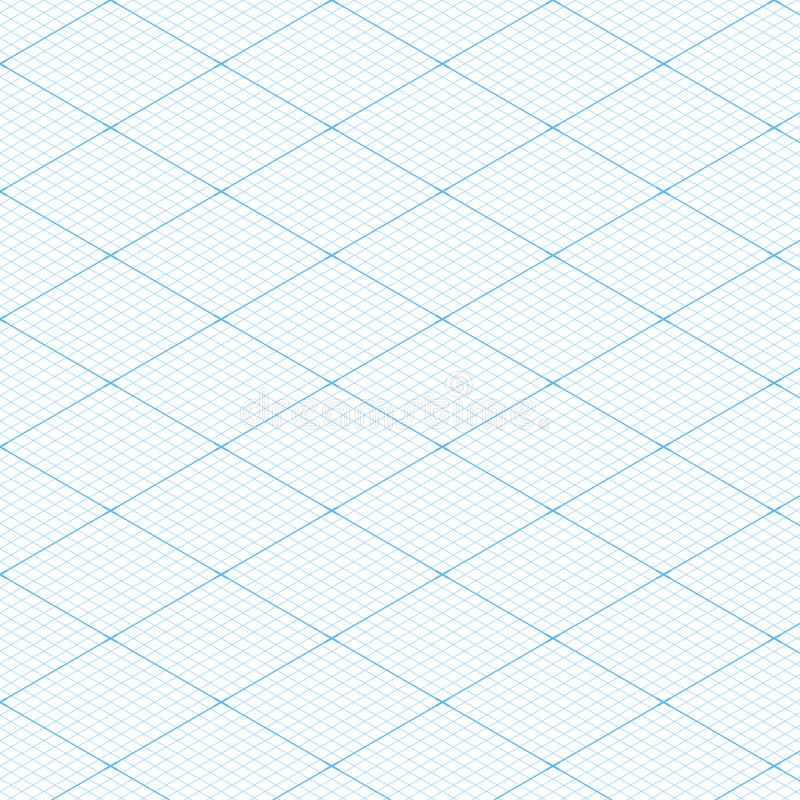 Fondo inconsútil de la textura del modelo de la rejilla isométrica blanca del modelo Ilustración del vector ilustración del vector