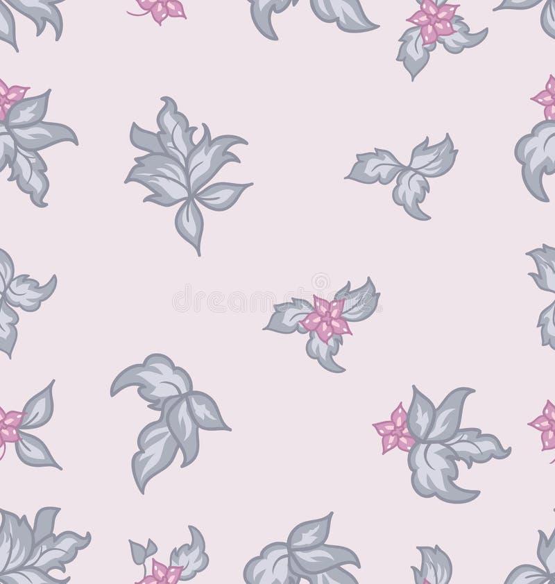 Fondo inconsútil de la vendimia linda de la flor stock de ilustración