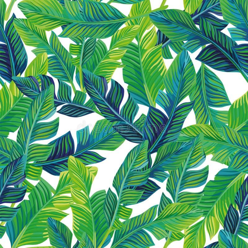 Fondo inconsútil de las hojas de palma tropicales libre illustration