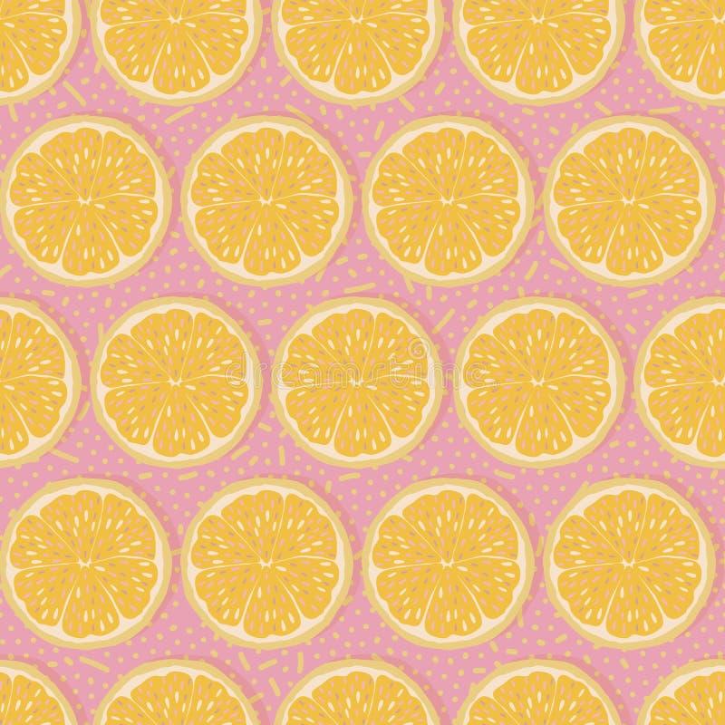 Fondo inconsútil de las naranjas stock de ilustración