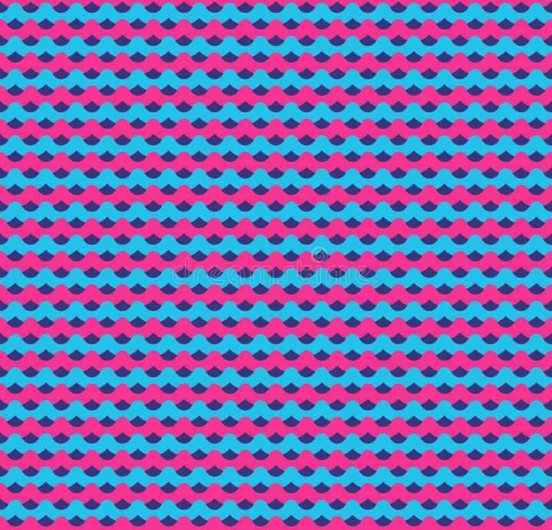Fondo inconsútil de las ondas del rosa y del azul libre illustration