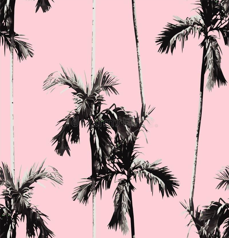 Fondo inconsútil de las palmeras ilustración del vector