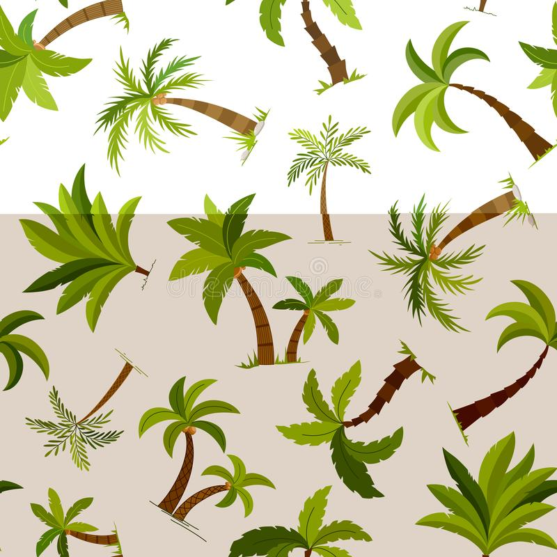 Fondo inconsútil de las palmeras Ejemplo hermoso del vector de la materia textil del árbol del palma del vector stock de ilustración