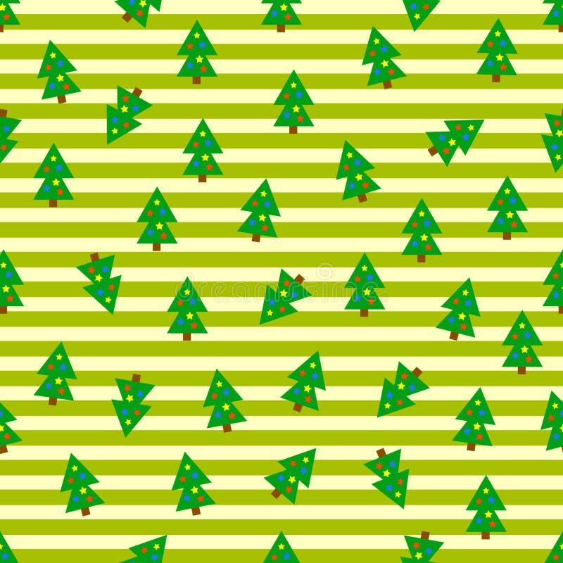 Fondo inconsútil de los árboles de navidad stock de ilustración