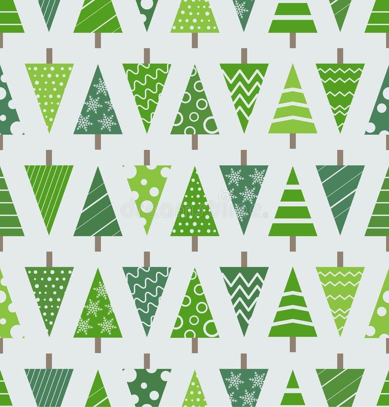 Fondo inconsútil de los árboles de navidad abstractos libre illustration