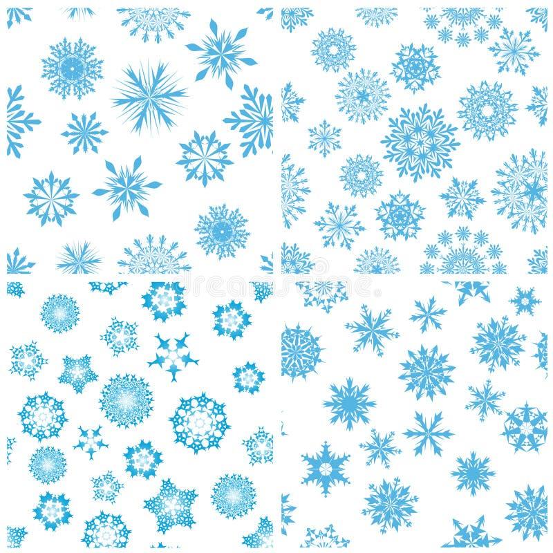 Fondo inconsútil de los copos de nieve ilustración del vector
