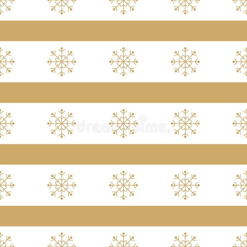 Fondo inconsútil de los copos de nieve de la Navidad libre illustration