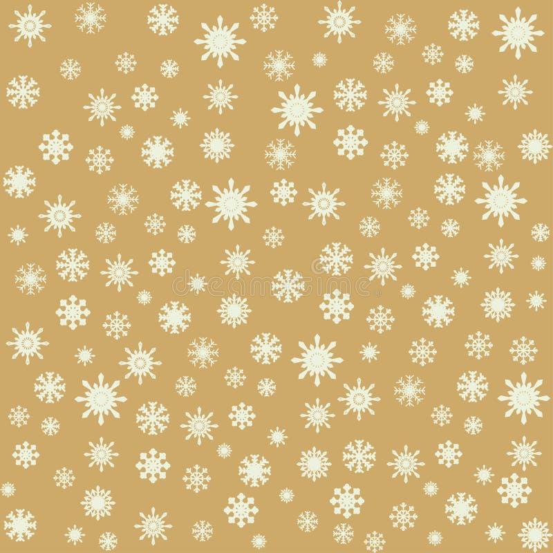 Fondo inconsútil de los copos de nieve de la Navidad ilustración del vector