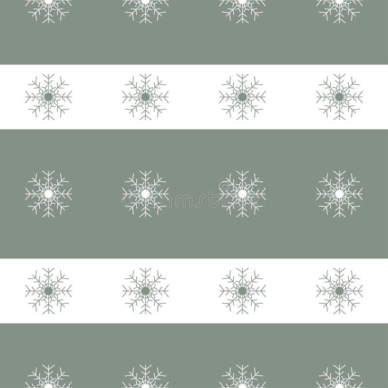 Fondo inconsútil de los copos de nieve de la Navidad stock de ilustración