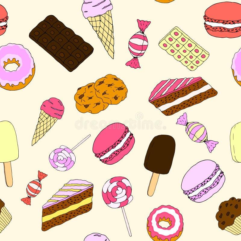 Fondo inconsútil de los dulces imagen de archivo