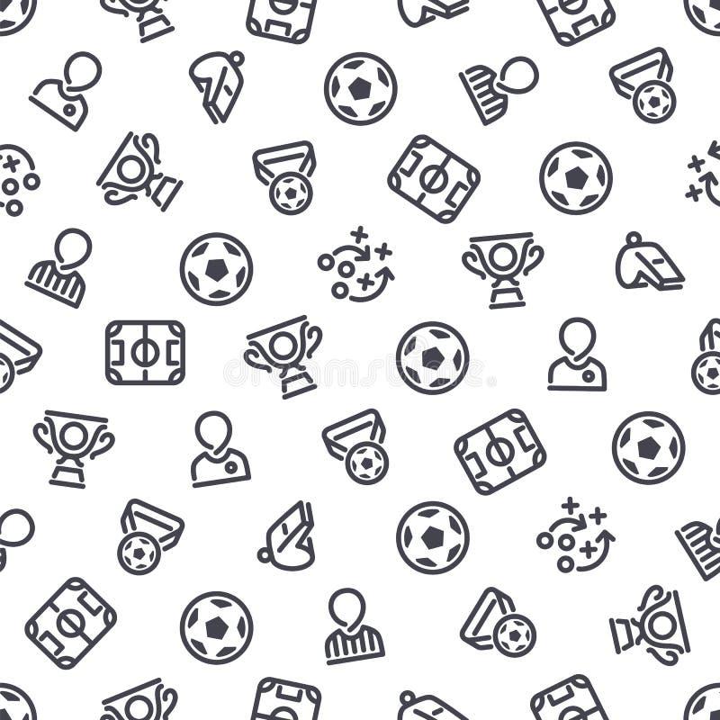 Fondo inconsútil de los iconos del fútbol ilustración del vector