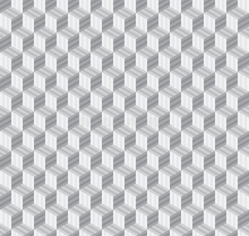 Fondo inconsútil de los modelos del cubo geométrico abstracto del hexágono ilustración del vector