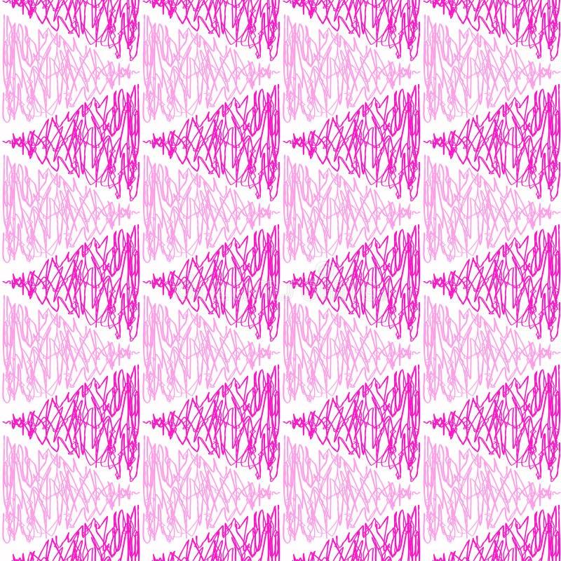 Fondo inconsútil de los triángulos del garabato ilustración del vector