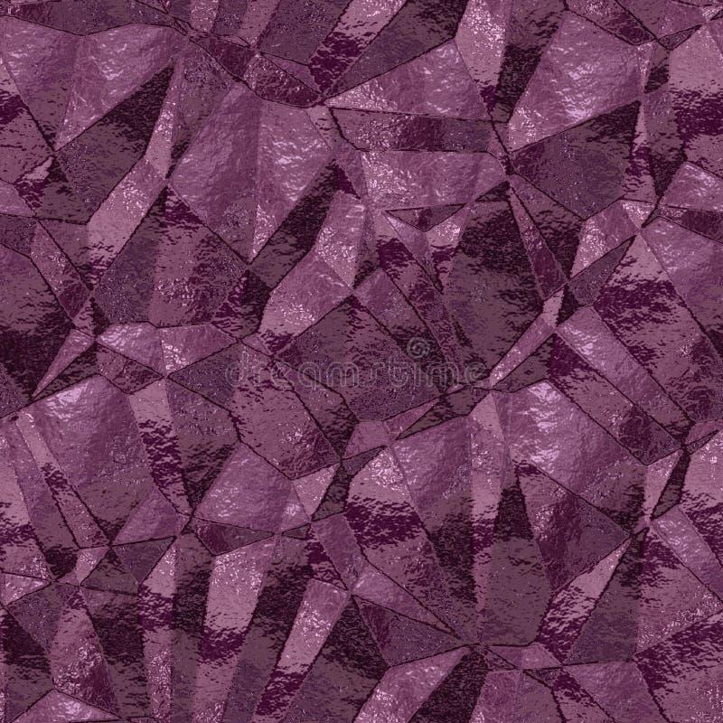 Fondo inconsútil de los triángulos púrpuras abstractos libre illustration