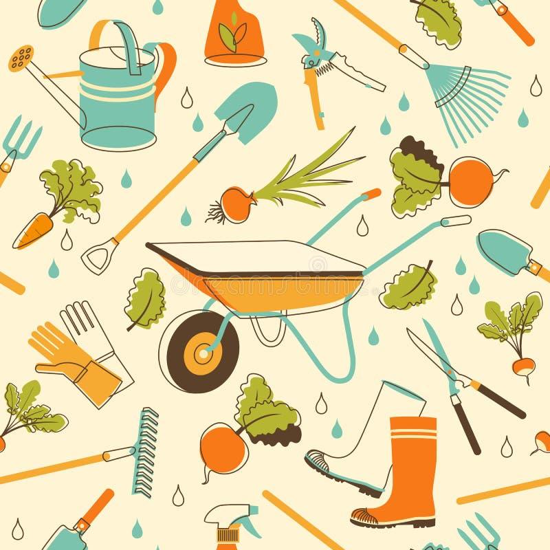 Fondo incons til de los utensilios de jardiner a en estilo for Utensilios de jardineria