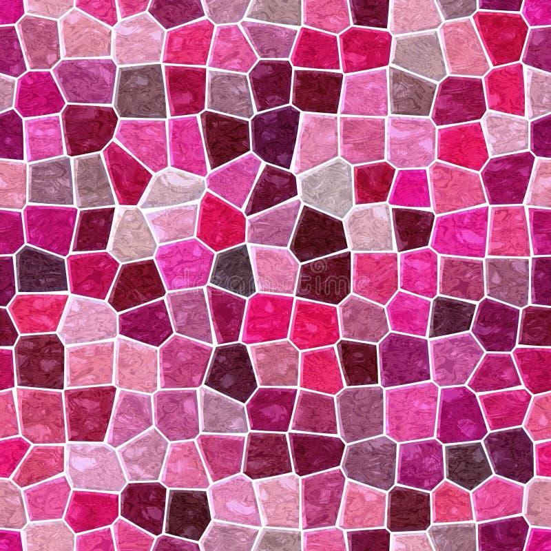 Fondo inconsútil de mármol superficial con la lechada blanca - rosa fuerte, magenta, color rojo mohogany, marrón, rasberry del mo ilustración del vector