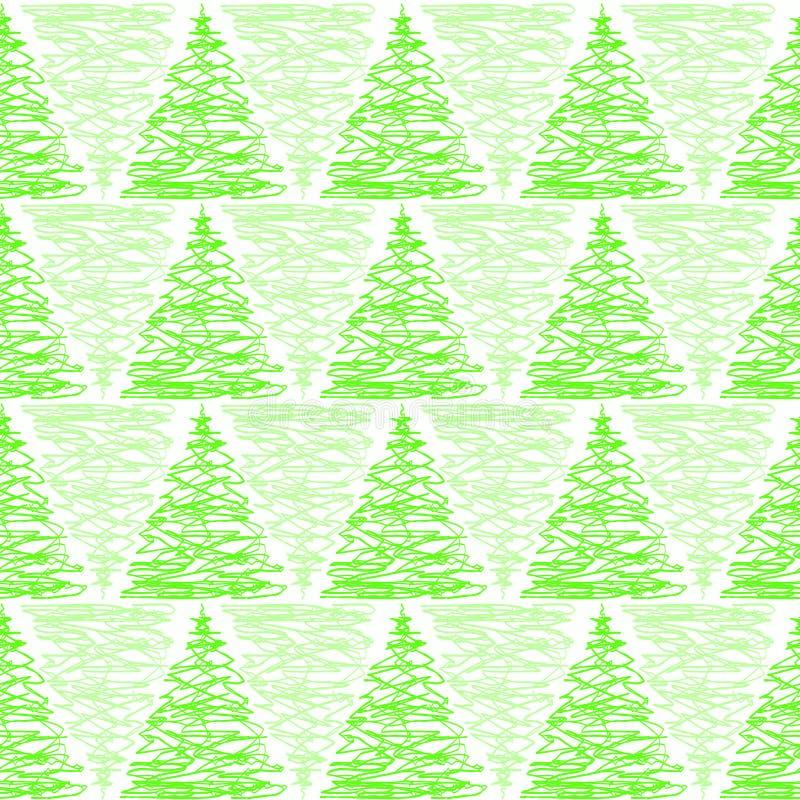 Fondo inconsútil de pino del bosque triangular de los árboles stock de ilustración