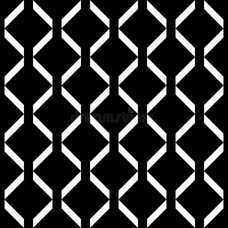 Fondo inconsútil decorativo del modelo de la línea negro geométrico y blanco Complicado, material libre illustration